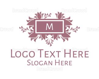 Memorable - Floral Arrangement Lettermark  logo design
