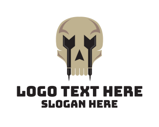 Bullseye - Skull Darts logo design