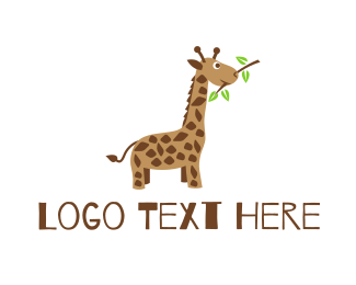 Brown Baby - Little Giraffe logo design