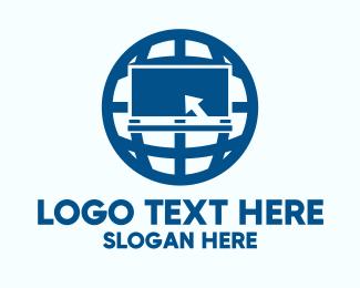 Computing - Blue Globe Computer logo design