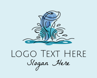 Fish Farm - River Ocean Fish  logo design