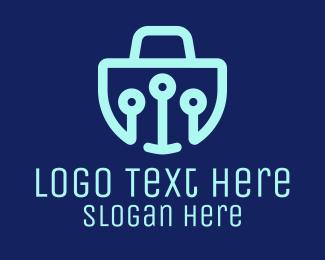 Online Shopping - Digital Online Cart logo design