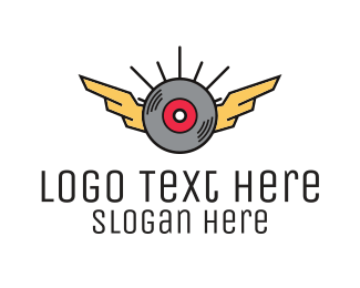 Modern Disc Wing Logo Maker