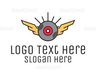 Disc Jockey - Modern Disc Wing logo design