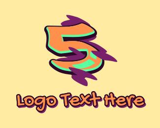 Graffiti Art - Graffiti Art Number 5 logo design
