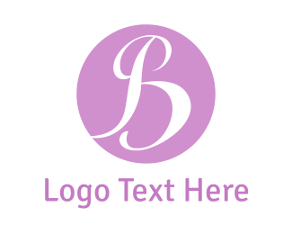 Feminine - Purple B logo design