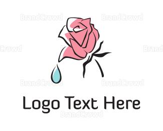 Cherry Tree - Pink Flower logo design