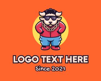Mascot - Cool Buffalo Rapper logo design