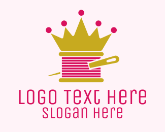 Fashion - Gold Crown Yarn  logo design