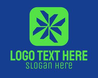 Geometrical - Geometric Tech App logo design