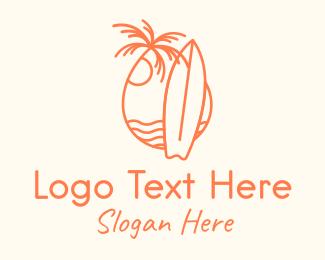 Day - Summer Surfboard Surfing logo design