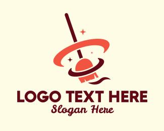 Sparkling - Magic Broomstick  logo design