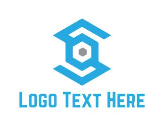Facebook - Industrial Letter S logo design