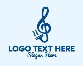 G Clef - Clean Music Squeegee logo design