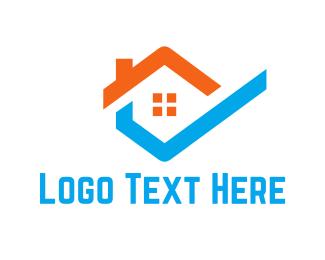 Cleaning - Hexagonal House logo design