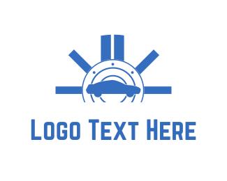 Auto - Blue Car logo design