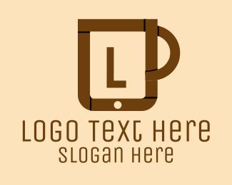 Ipad - Online Coffee Cup logo design
