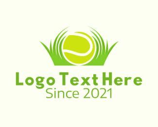 Sports - Tennis Ball Lawn Care logo design