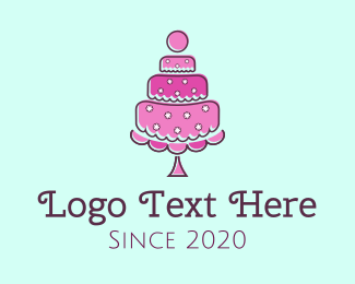 Wedding - Pink Cake logo design