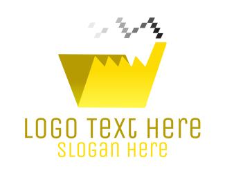 Folder - Pixel File Factory logo design