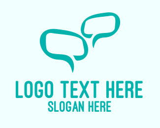 Speech Bubble - Green Message Bubble logo design
