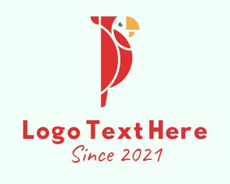 Parrot - Geometric Parrot logo design