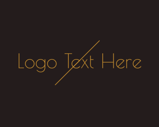 Minimalistic - Golden  Minimalist Wordmark logo design