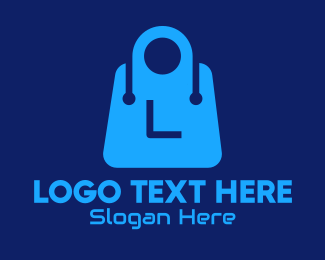 Tech Store - Blue Tech Shopping Bag Lettermark logo design