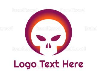 Toxic - Gradient Skull Emblem logo design