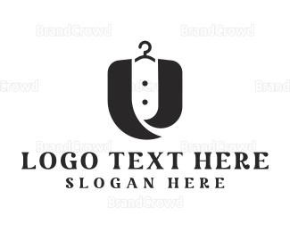 Dry Cleaner - Fashion Letter U logo design