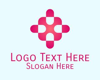 Pink Capsule Cross Logo