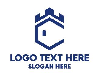 Fortress - Shield Tower logo design