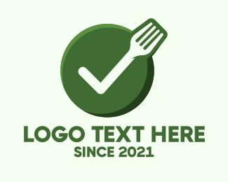 Verified - Vegan Food Check logo design