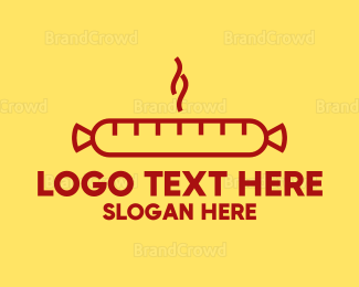 Barbecue - Hot Sausage logo design