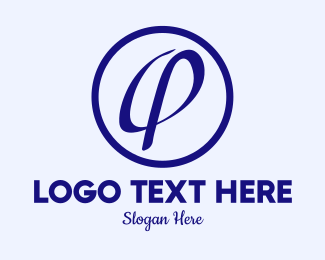Ao - Blue A & O Monogram  logo design