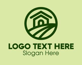 Farm - Green Farmhouse Farm logo design