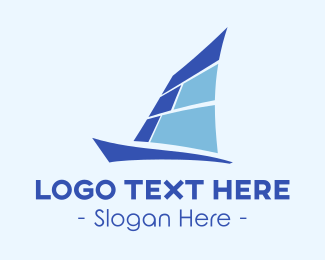 Sail - Blue Yacht logo design
