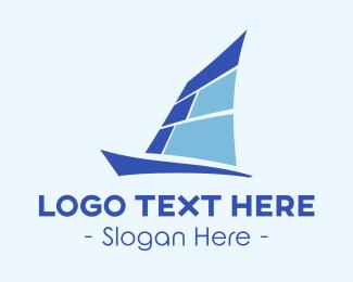 Sail - Blue Yacht logo design