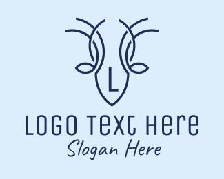 Antlers - Deer Antlers Letter logo design