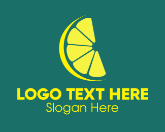 Lemon Lime Citrus Slice Logo