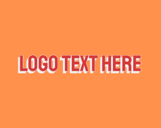 Drop Shadow - Uppercase Red Font logo design