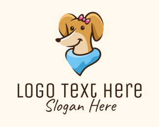 Pet Food - Cute Female Dog logo design