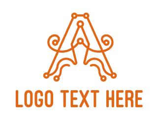 Cursive - Cursive A Pen logo design