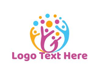 Playful - Happy Team logo design