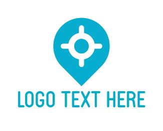 Orientation - Location Pin logo design