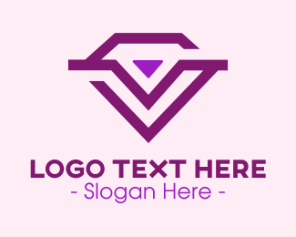 Jewelry - Purple Lux Diamond Jewelry logo design