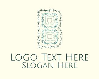 Swirl - Floral Letter B logo design