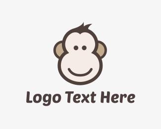 Chimp - Monkey Face logo design