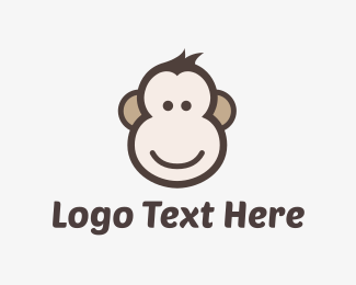 Pictorial - Monkey Face logo design