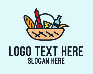 Basket - Grocery Shopping Basket  logo design
